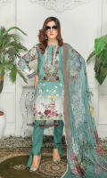Embrioidered DIgital Print Linen Shirt Chantelle Chiffon Dupatta Dyed Trouser