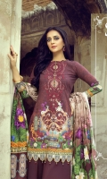 Digital Printed Cambric Shirt With Embroidered Neck Digital Printed Jacquard Cambric Dupatta Digital Printed Sleeves Cambric Cotton Trouser