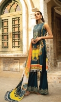 Digital Printed Lawn Shirt with Embroidered Neck  Cut work Digital Printed Luxury Swiss Voil Dupatta  Cambric Cotton Embroidered Trouser