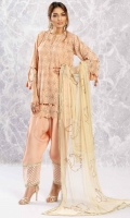 Dusty pink net shirt in a flared sleeve design with gota and sequin work, diamonte spheres, cutwork and tassle detailing