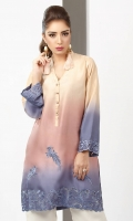 Shaded raw silk kurta in hues of pink and purple with cut-work embroidery detail