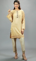 Golden Jacquard knee length with adda work kundan lace at the neckline Gota work panel in the sleeves and daman