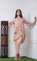 Embroidered Crepe Stitched 2 Piece