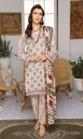 Embroidered Leather Peach Pashmina Shawl Printed Trouser