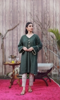 This green casual kurta artfully deigned with pleats on the side panel to give a droopy effect. It is adorned with metallic buttons on the neckline and droopy sleeves which features pleats and beige laces.  Style yours with beige pleated pants to continue the day time feel.