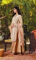 This beautiful beige loose fit kurta is adorned with pleats and laces all over the kurta and finished with delicate lace  trimmings including sleeves. It has a delicate stitch work motif on the back and sleeve in pastel hues. Drape yourself in this outfit with our gorgeous Organza ruffle and block printed chic palazzos to create an elegant, yet classic look.