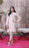 Elevate your wardrobe with our dusky pink casual kurta. It is beautifully adorned with pleats and Pintex all over the kurta added with a brooch on the neckline for a more charming look. Drape yourself in this elegant kurta with matching pleated pants to all brunches this season.