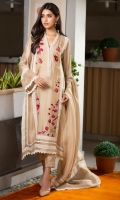 Our signature beige kurta is intricately handcrafted with bold embroidered accents, it features laces and scalloped pearls on the neckline along with laces and pintex all over the kurta and sleeves. It is paired with matching raw silk pleated pants and a cotton net dupatta adorned with crochet laces for a more graceful look.