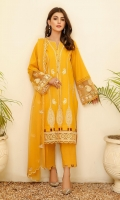 Embroidered Lawn Stitched 3 Piece Suit