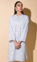 Chikankari Kurta With Lace Full Sleeves