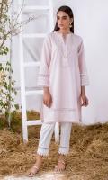 Light Pink Solid Khaddar Kurta Full Sleeves  Lace Finishing