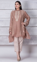 A maysuri net square shirt with hand embroidered gala pati. Side detailed with running stitch and insertion laces. A classic piece for any occasion.