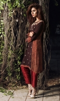 Ajrak in pure georgette with maroori and mirror work  Includes complementary silk pants and chiffon duppatta