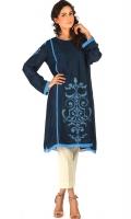 "Victorian royal blue"" net appliquéd shirt with silk lining."