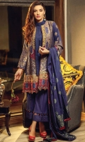 Dyed composed jacquard with on fabric Embroidered shirt Dyed jacquard dupatta and coupled with cambric paste printed trouser ACCESSORIES Embroidered Patti