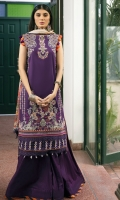 LAWN EMBROIDERED FRONT 1.25 MTR  LAWN PASTE PRINTED BACK & SLEEVE 1.75 MTR  CHIFFON DIGITAL PRINTED DUPATTA 2.5 MTR  PRINTED CAMBRIC TROUSER 2.5 MTR