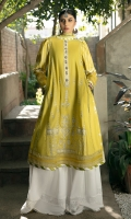 LAWN EMBROIDERED FRONT 1.25 MTR  LAWN PASTE PRINTED BACK & SLEEVE 1.75 MTR  CHIFFON DIGITAL PRINTED DUPATTA 2.5 MTR  DYED CAMBRIC TROUSER 2.5 MTR