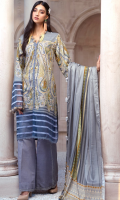 DIGITAL PRINTED KHADDAR SHIRT: 3MTR DIGITAL PRINTED TWILL DUPATTA: 2.5MTR DYED KHADDAR TROUSER: 2.5MTR