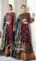 Frock Front& Back: Sequins Embroidered Chiffon (2.5 Yard) Front Bodice: Sequins Embroidered Chiffon (0.6 yard) Back Bodice: Sequins Embroidered Chiffon (0.6 yard) Sleeves: Sequins Embroidered Chiffon (0.7 yards) Dupatta: Dyed Jammawar Shawl (2.75 Yards) Front & Back Lace 1: Sequins Embroidered Silk (2.5 Yard) Front & Back Lace 2: Sequins Embroidered Silk (2.5 Yard) Sleeve Lace 1: Sequins Embroidered Silk (1 yard) Sleeve Lace 2: Sequins Embroidered Silk (1 yard) Trouser: Dyed Raw Silk (2.5 yard)