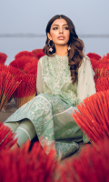 Shirt Front & Back Panel: Embroidered Lawn Shirt Sides Panels: Embroidered Lawn Front & Back Lace: Embroidered Cotton Sleeves: Embroidered Lawn Sleeves Lace: Embroidered Cotton Dupatta: Puff Printed Chiffon Dupatta Lace: Embroidered Organza (4 sides) Trouser: Dyed Cambric