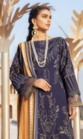 Shirt Front: Embroidered Dobby Viscose (Linen) Shirt Back: Dyed Dobby Viscose (Linen) Sleeves: Embroidered Dobby Viscose (Linen) Dupatta: Digital Printed Viscose Shawl Shirt Side Panel: Embroidered Viscose (Linen) Sleeves Lace: Embroidered Organza Daman Lace: Embroidered Organza Trouser: Dyed Linen Trouser Lace: Embroidered Organza