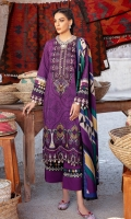 Shirt Front Back & Sleeves: Digital Printed Linen Dupatta: Digital Printed Viscose Shawl Neck Line: Embroidered Organza Daman Lace: Embroidered Organza Sleeves Lace Embroidered Organza Trouser: Dyed Linen