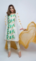 Embroidered Lawn  Shirt + Duppata