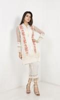 Organza Jacquard Shirt with Printed Crush Duppata