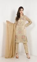EMB Masoori Shirt With Jacquard Trouser , And Printed Duppata