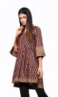 Mahroon Jacquard Shirt Jacquard 1 Pc(Shirt Only)