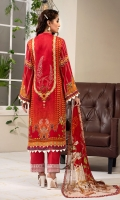 EMBROIDERED FRONT 1.15M PRINTED BACK & SLEEVES 1.85M DYED TROUSER 2.5M CHIFFON DUPATTA 2.5M