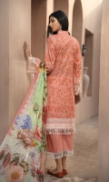 PRINTED & EMBROIDERED FRONT      1.15M  PRINTED BACK & SLEEVES   1.85M  DYED TROUSER      2.5M  CHIFFON DUPATTA                2.5M  EMBROIDERED NECKLINE 1M  EMBROIDERED LACE 1M