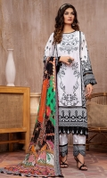EMBROIDERED FRONT 1.15M PRINTED BACK & SLEEVES 1.85M DYED TROUSER 2.5M CHIFFON DUPATTA 2.5M EMBROIDERED PANEL  1