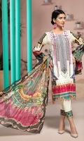 PRINTED & EMBROIDERED FRONT 1.25M PRINTED BACK & SLEEVES 1.9M PRINTED TROUSER 2.5M CHIFFON DUPATTA 2.5M EMBROIDERED PANNEL 2