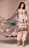 PRINTED & EMBROIDERED FRONT 1.25M PRINTED BACK & SLEEVES 1.9M PRINTED TROUSER 2.5M CHIFFON DUPATTA 2.5M