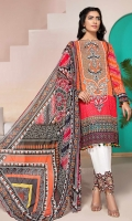 PRINTED & EMBROIDERED FRONT 1.25M PRINTED BACK & SLEEVES 1.9M PRINTED TROUSER 2.5M CHIFFON DUPATTA 2.5M EMBROIDERED LACE 1M