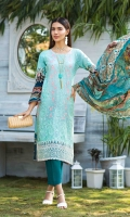LAWN EMBROIDERED FRONT LAWN PRINTED BACK AND SLEEVES ORGANZA EMBROIDERED BORDER FOR FRONT CHIFFON PRINTED DUPATTA PLAIN TROUSER