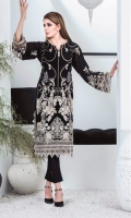 Embroidered Lawn Embroidered Chiffon Dupatta  Plain Trouser