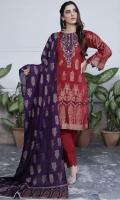 Lawn Brosha Banarsi Shirt Lawn Dupata Plain Trouser
