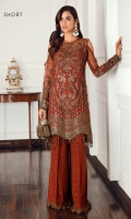 Embroidered Net Front Embroidered Net Back Embroidered Front & Back Borders Embroidered Net Sleeves Embroidered Sleeves Borders Embroidered Net Dupatta Embroidered Dupatta Patch Embroidered Raw Silk Trouser
