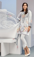Digital Printed Shirt Embroidered Neck Patch Embroidered Sleeves Patch Digital Printed Chiffon Dupatta Dyed Trouser