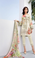 Digital Printed Shirt Embroidered Front Border Patch Digital Printed Chiffon Dupatta Dyed Trouser
