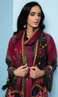 Digital Printed Khaddar Shirt Digital Printed Viscose Net Dupatta Embroidered Neck Patti Dyed Khaddar Trouser
