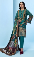 Digital Printed Khaddar Shirt Digital Printed Viscose Net Dupatta Embroidered Front Border Dyed Khaddar Trouser