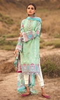 Embroidered Front  Embroidered Front Border Digital Printed Sleeves & Back Digital Printed Pure Tissue Silk Dupatta Paste Printed Cambric Trouser