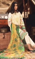 Embroidered Front Panels Printed Sleeves & Back Embroidered Front Border Printed Chiffon Dupatta Dyed Cambric Trouser