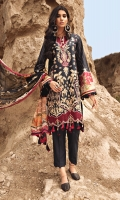 Embroidered Front Panels Printed Sleeves and Back  Embroidered Front Border Printed Chiffon Dupatta Embroidered Cambric Trouser