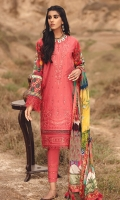 Embroidered Front Embroidered Front & Sleeves Border Digital Printed Sleeves & Back Digital Printed Chiffon Dupatta Dyed Cambric Trouser