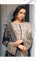 EMBROIDERED CHIFFON FRONT EMBROIDERED CHIFFON BACK  EMBROIDERED CHIFFON SLEEVES  EMBROIDERED CHIFFON DUPATTA  EMBROIDERED SLEEVES BORDER  EMBROIDERED FRONT & BACK BORDERS  EMBROIDERED TROUSER PATCH  DYED TROUSER