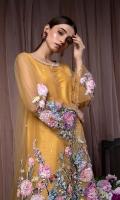Shirt : Fish net & organza Under Shirt : Indian raw silk Trouser : Indian raw silk